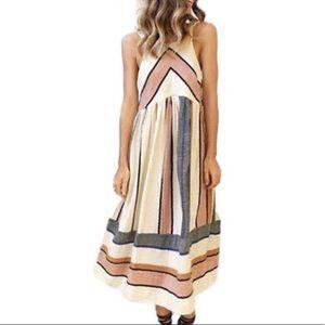 Dresses & Skirts - Midi length sleeveless crew neck dress